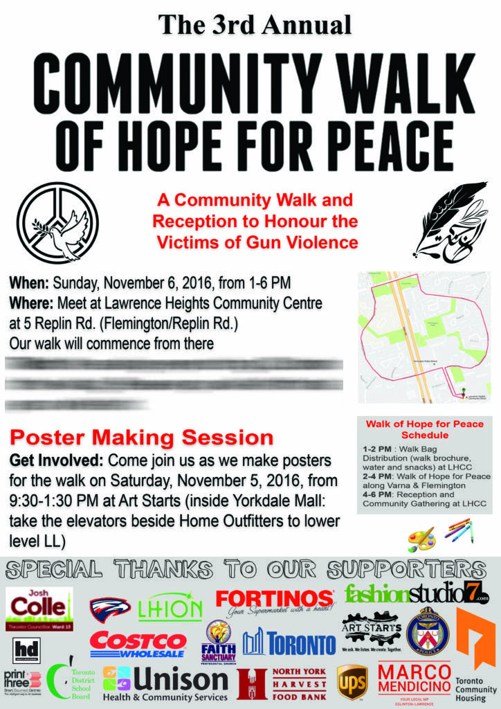 Lawrence Heights Community Walk of Hope for Peace