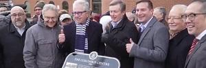 Columbus Centre heritage designation unveiling